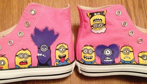 Despicable Me Minion Hand Painted Shoes-1