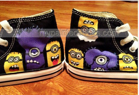 Despicable Me Minion Hand Painted Shoes-3