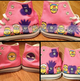 Despicable Me Minion Hand Painted Shoes-4