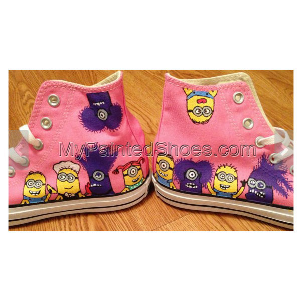 Despicable Me Minion Hand Painted Shoes