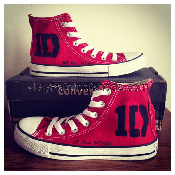 1D One Direction Shoes 1D One Direction Hand Painted Canvas Shoe