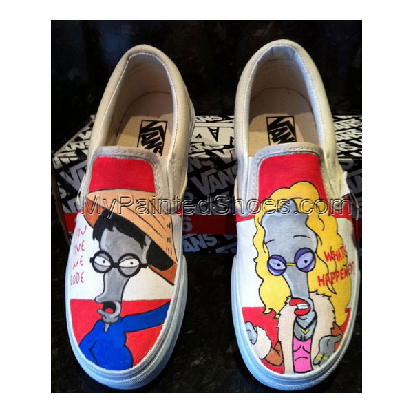 Roger American Dad Shoes Roger American Dad Slip-on Painted Canv