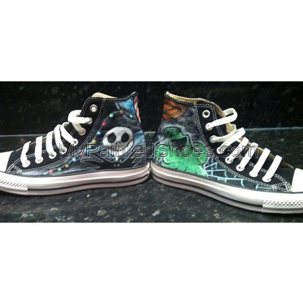 Custom Chuck Taylors TNBC High-top Painted Canvas Shoes