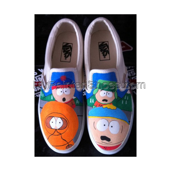 South Park Shoes South Park Slip-on Painted Canvas Shoes