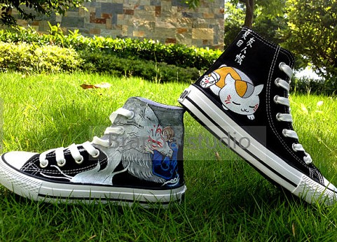 Natsume's Book of Friends Hand Painted Shoes High-top Painted Ca-1