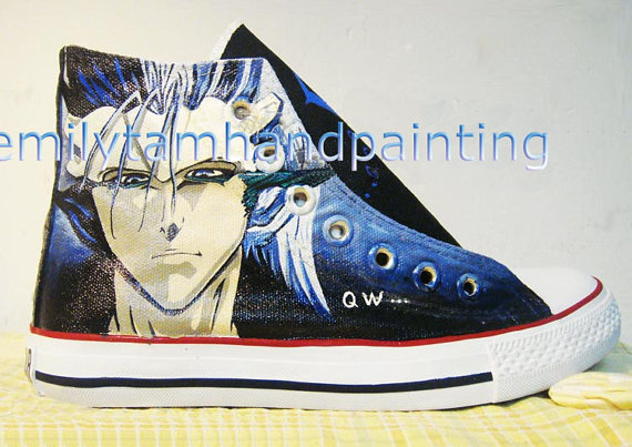 Bleach Custom Grimmjow Jeagerjaques Kicks Shoes Bleach Anime Sho-1