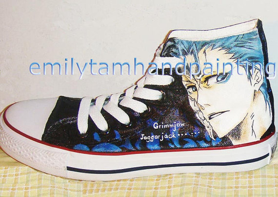 Bleach Custom Grimmjow Jeagerjaques Kicks Shoes Bleach Anime Sho-2