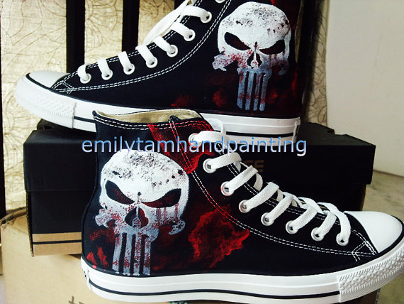 Custom High Top Sneakers High-top Painted Canvas Shoes-1