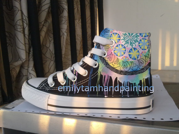 Dreamcatcher Sneakers High-top Painted Canvas Shoes-1