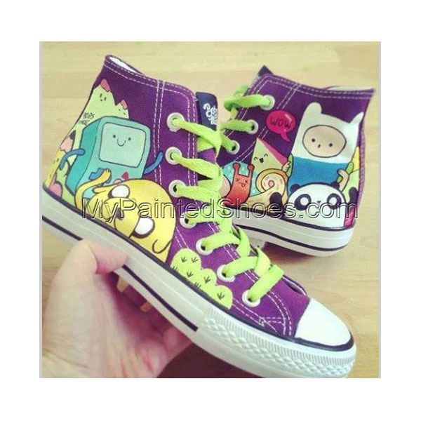 Adventure Time Custom Shoes