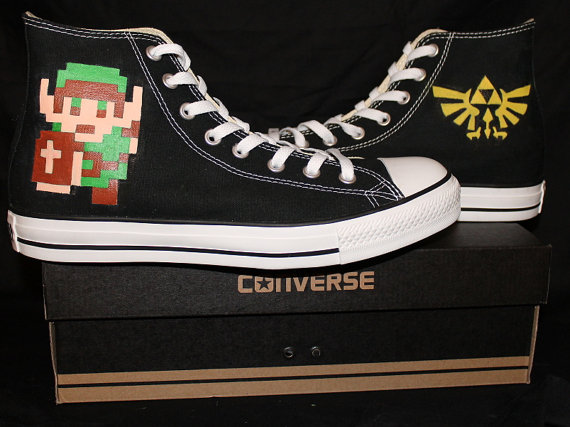 Legend of Zelda Hand Painted Shoes-2