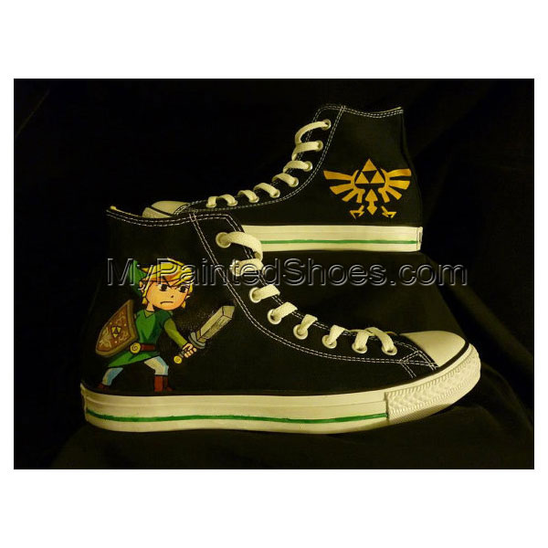 Legend of Zelda Hand Painted Shoes