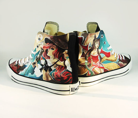 League of Legend Painted Canvas Shoes-2