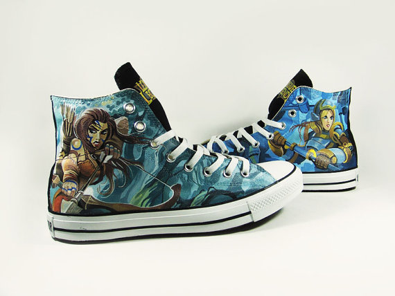 League of Legend Hand Painted Shoes-1