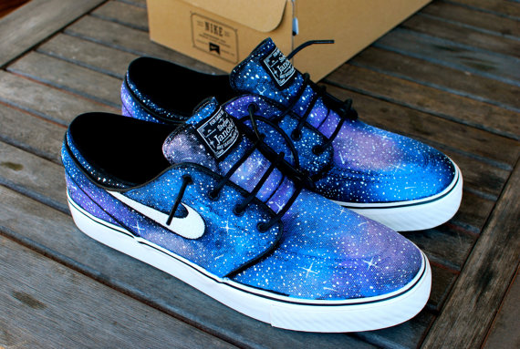 Galaxy Sneakers Painted Shoes Galaxy Low-top Painted Canvas Shoe-3