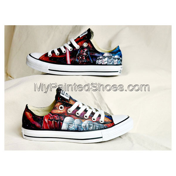 1acef154dfadc Custom Star Wars Hand Painted Shoes Custom Low-top Painted Canva