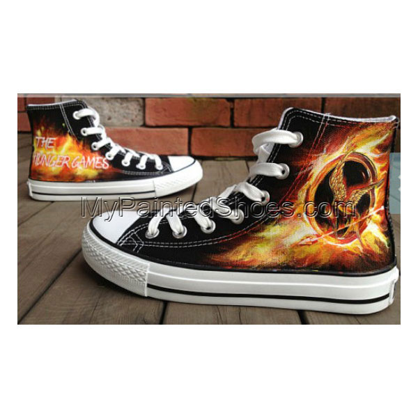 Mockingjay Inspire Hunger Game Hand Painted Shoes