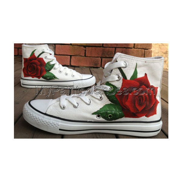 Rose Shoes Rose High-top Painted Canvas Shoes