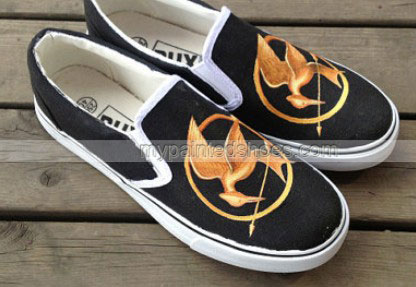 Hunger Gam Shoes Studio Hand Painted Shoes Slip on Shoes Custom -2