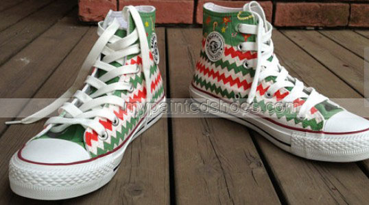 Christmas Stocking Gifts Hand Painted Shoes-2