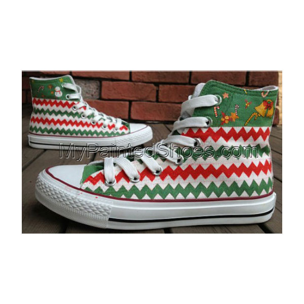 Christmas Stocking Gifts Hand Painted Shoes