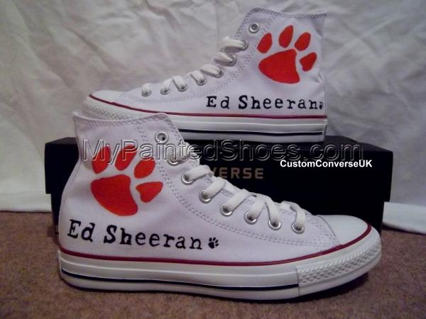 Ed Sheeran High-top Painted Canvas Shoes-1