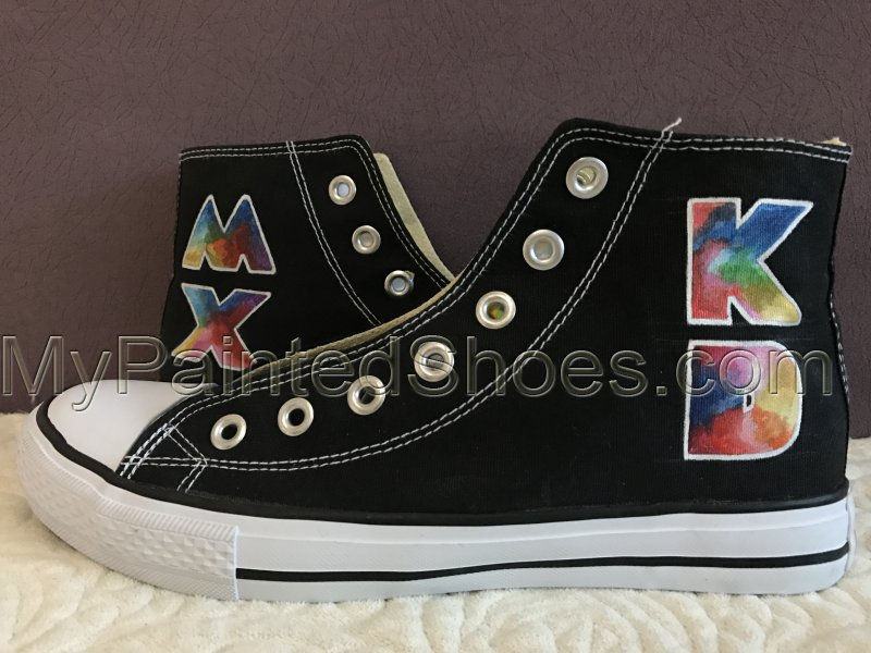 Coldplay Mylo Xyloto High-top Painted Canvas Shoes-1