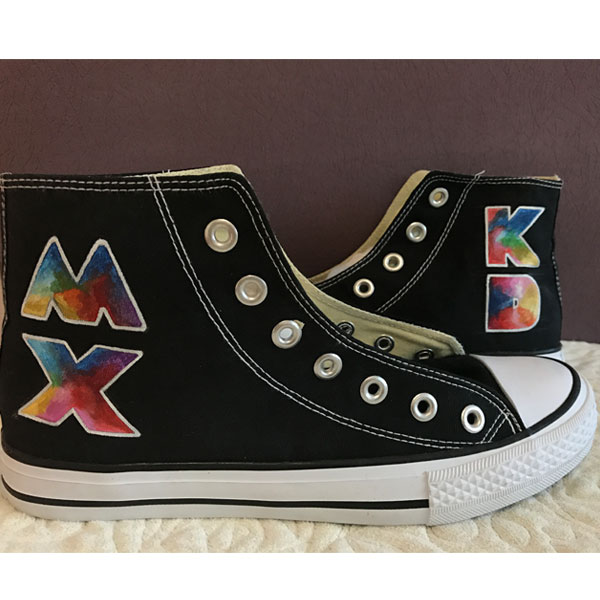 Coldplay Mylo Xyloto High-top Painted Canvas Shoes