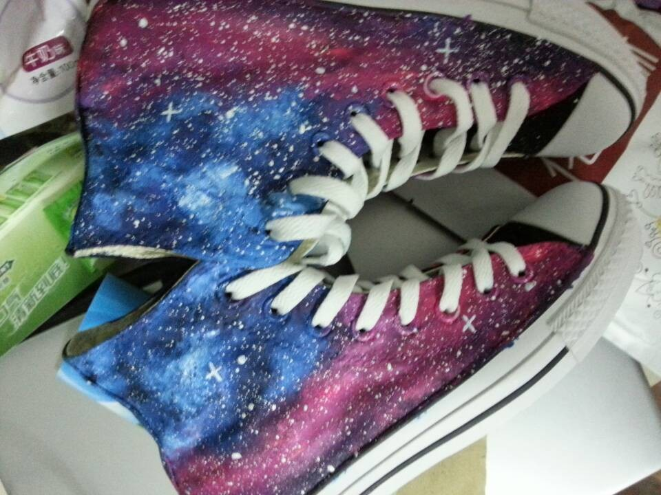 Galaxy Hi Tops Shoes-1