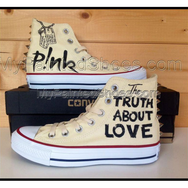 The Truth About Love High-top Painted Canvas Shoes