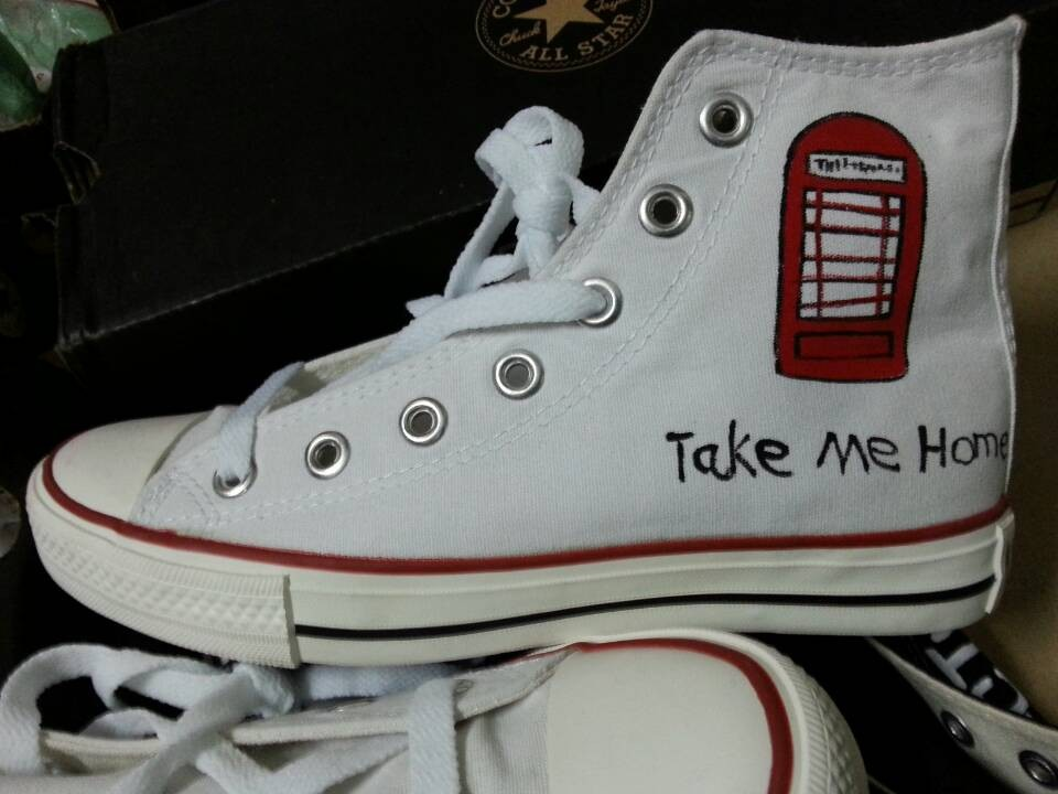One Direction Take Me Home High-top Painted Canvas Shoes-2