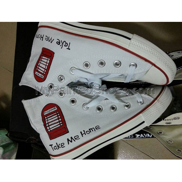 One Direction Take Me Home High-top Painted Canvas Shoes