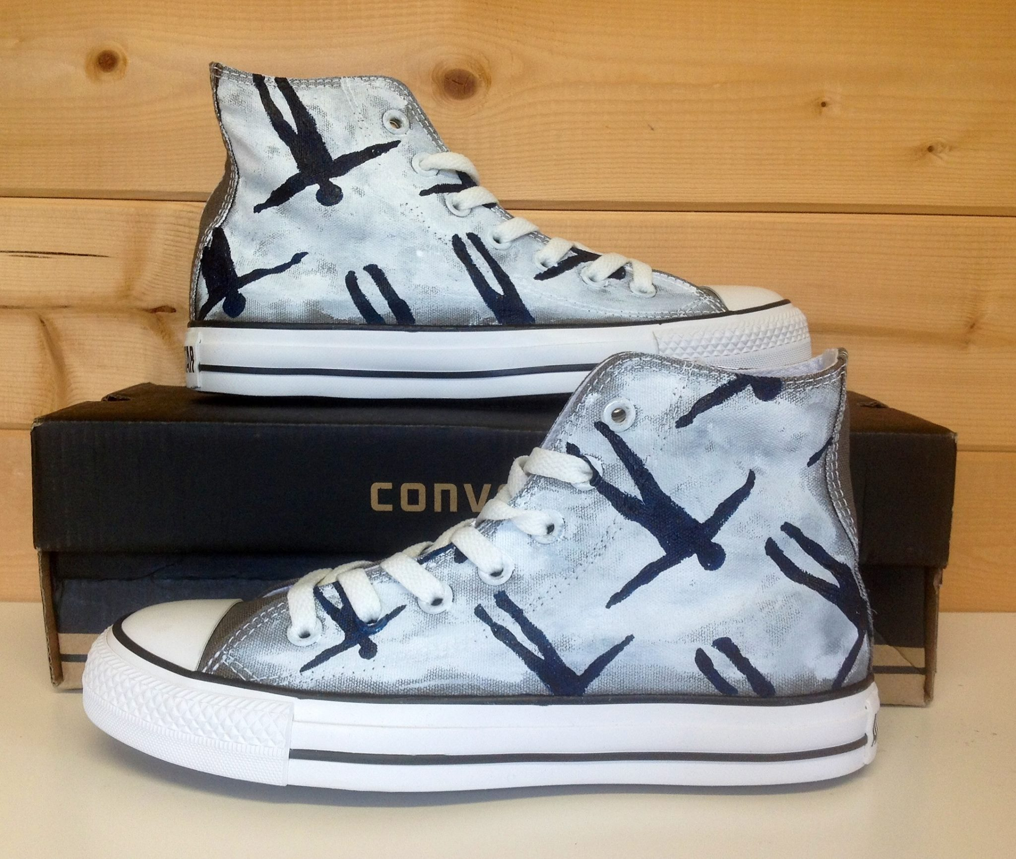 Absolution High-top Painted Canvas Shoes