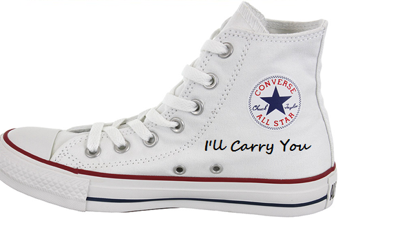 Union J High-top Painted Canvas Shoes-1
