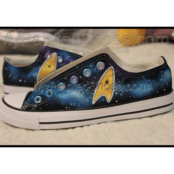 Star Trek Galaxy Low Tops Painted Canvas Shoes