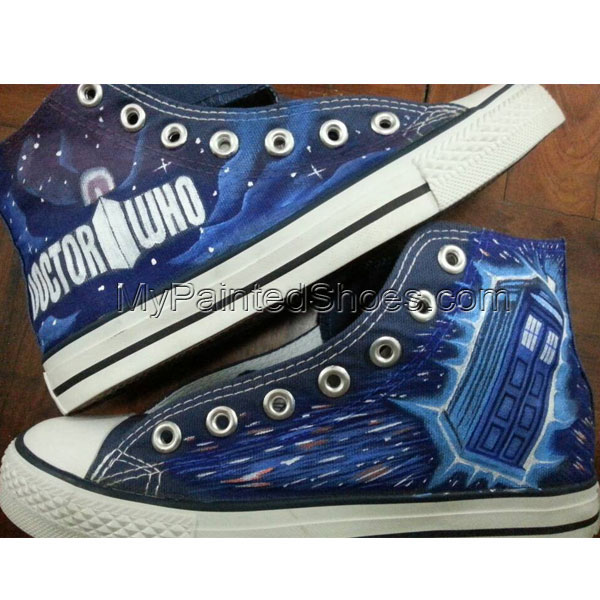 Doctor Who Shoes Custom Doctor Who Sneakers