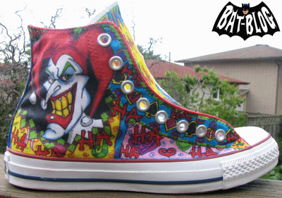 joker harley quinn Painted Canvas Shoes-1