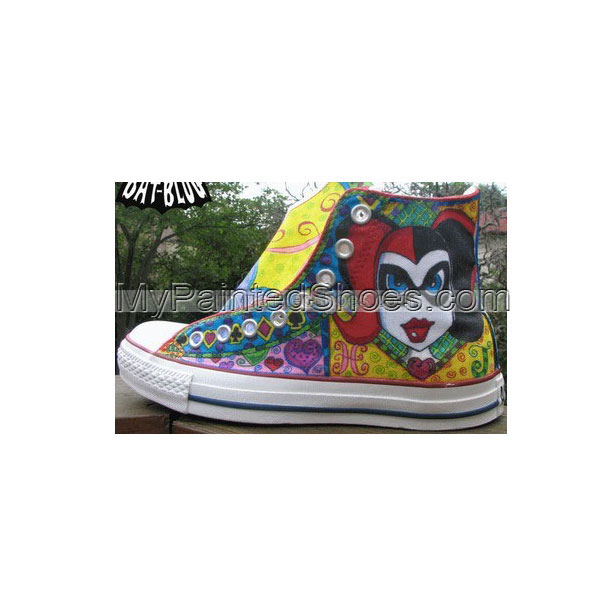 joker harley quinn Painted Canvas Shoes