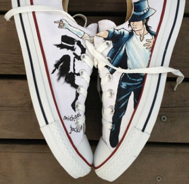 Michael Jackson Shoes Low Top Michael Jackson Hand Painted Shoes-1