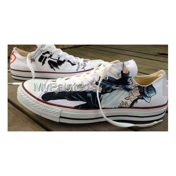 Michael Jackson Shoes Low Top Michael Jackson Hand Painted Shoes