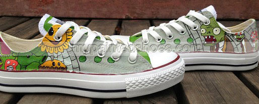 Zombies shoes painted Zombies shoes for kid/women/men-2