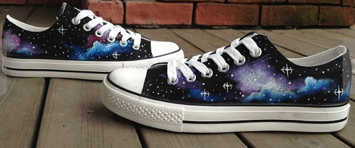 Galaxy Sneakers Galaxy Hand Painted On Shoes-1