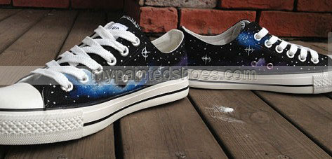 Galaxy Sneakers Galaxy Hand Painted On Shoes-2