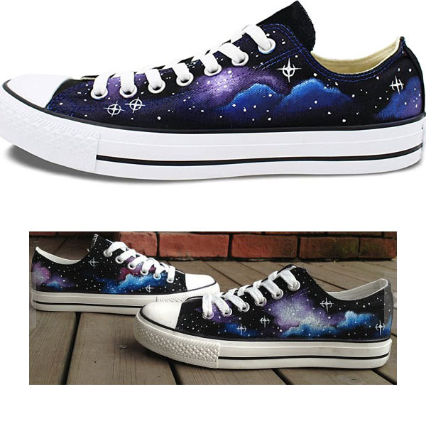 Galaxy Sneakers Galaxy Hand Painted On Shoes