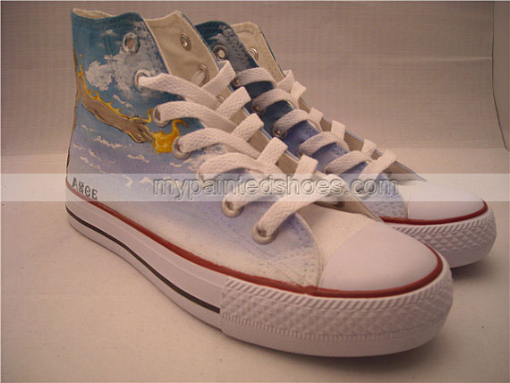Anime one piece anime Ace Shoes Custom painted shoes-2