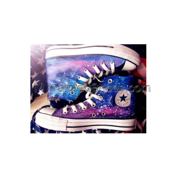 galaxy Custom hand painted shoes
