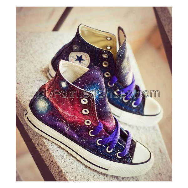 galaxy high top shoes Galaxy Sneakers galaxy canvas shoes