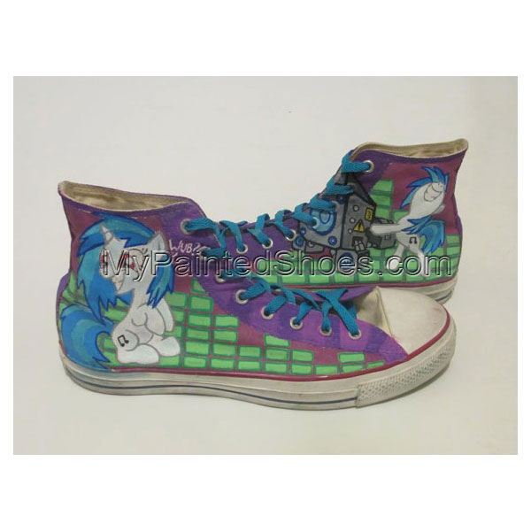 Dj Pon3 / Vinyl Scratch High-top Painted Canvas Shoes