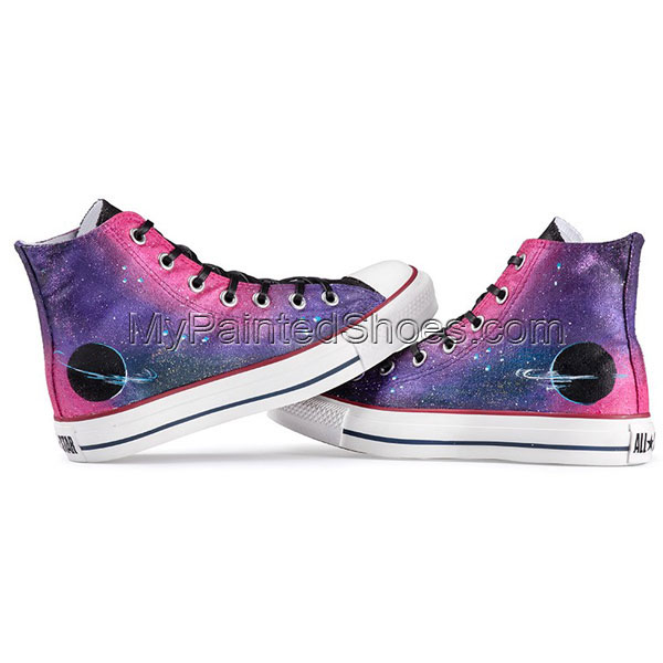 galaxy high-top shoes custom galaxy high-top shoes