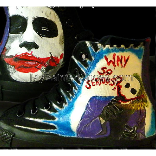 The Joker Dark Knight Custom Sneakers